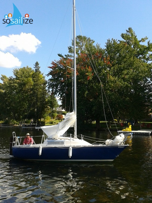CS 22 SAILBOAT FOR SALE WITH TRAILER $3900 Bobcaygeon Ontario, Canada
