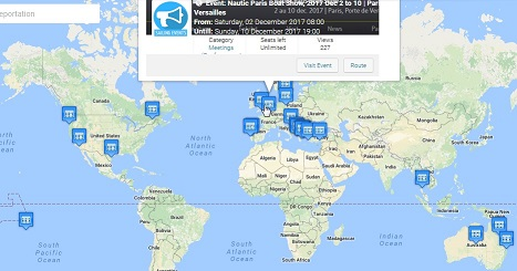 soSAILize Sailing Events Location on Map
