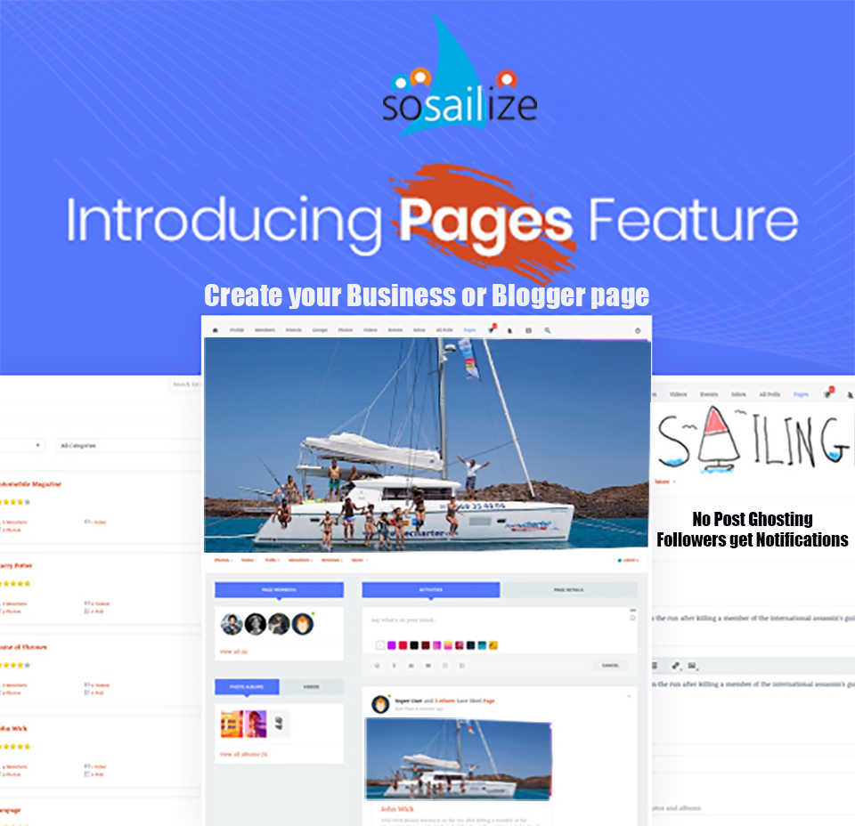Pages NEW feature on soSAILize