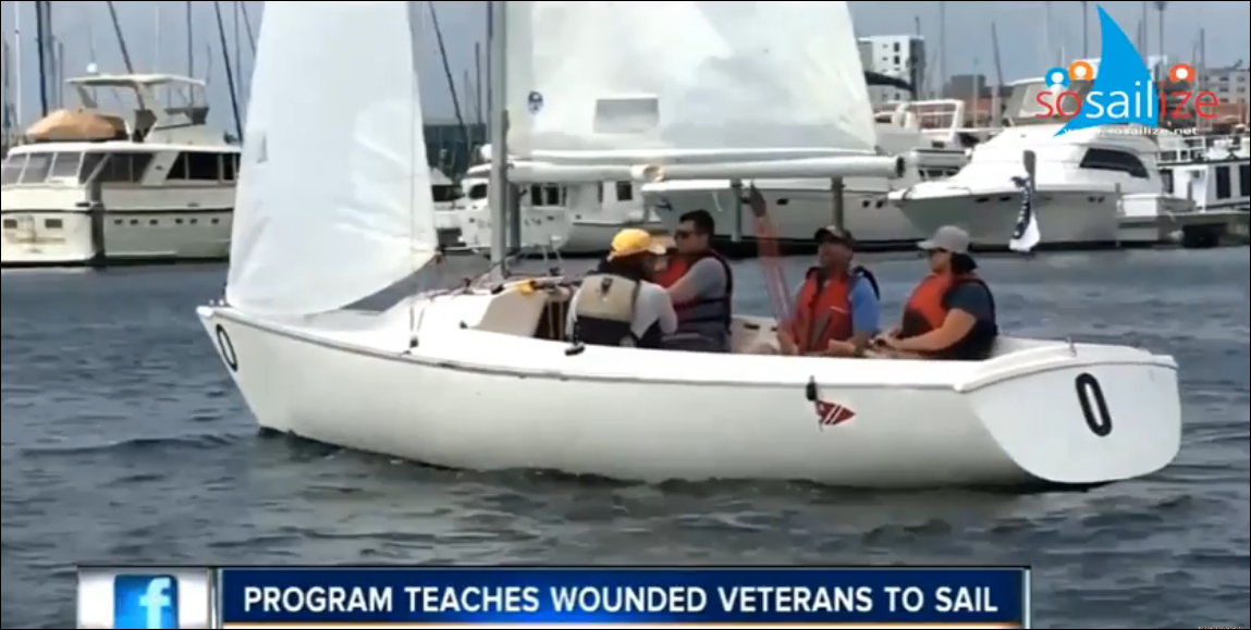 Military veterans learning to sail