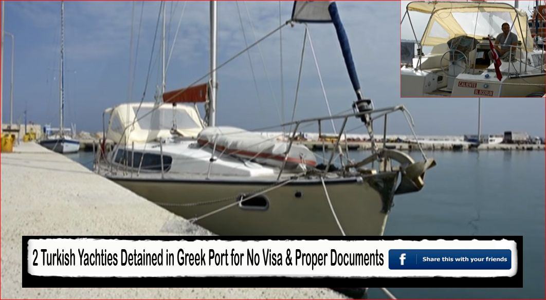 turkish  yachties detained in greece