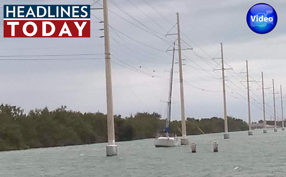 sailboat hits powerline