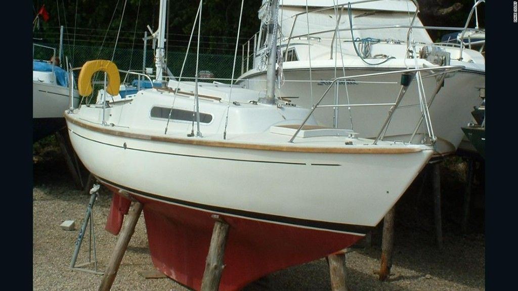 Dave Selby's M H22 sailboat after