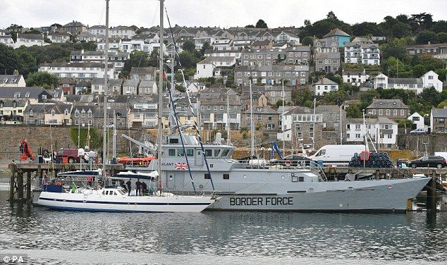 Crime Agency seized a sailing yacht in the English Channel
