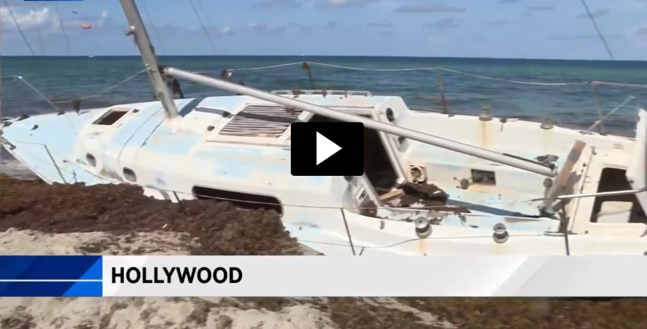Abandoned sailboat to finally be removed
