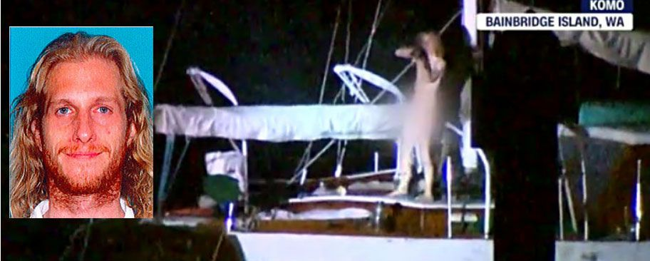 The fatal police shooting of a gunman on a sailboat