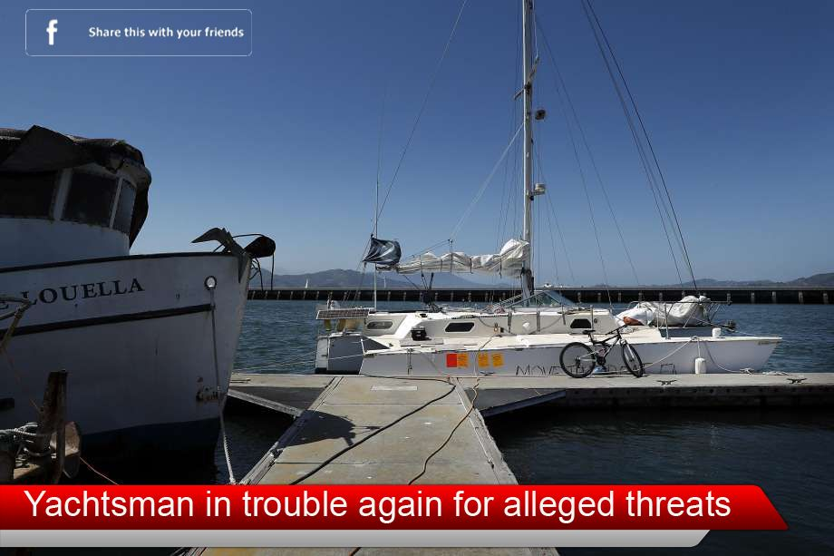 Sailboat owner  in trouble again for alleged threats