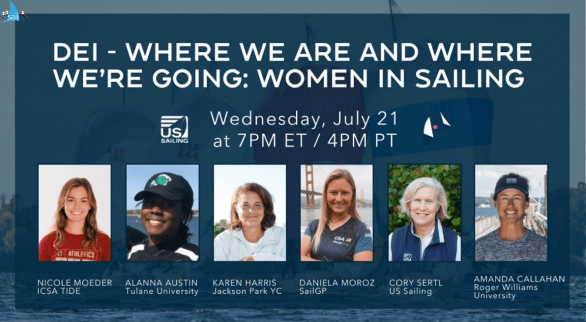 Women in Sailing: Where We Are & Where We Are Going July 21 at 7pm ET / 4pm PT