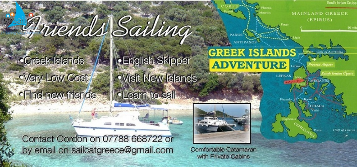 Portsmouth U.K. to Ionian Greek islands, 2017 June-July, Berths Available! Event