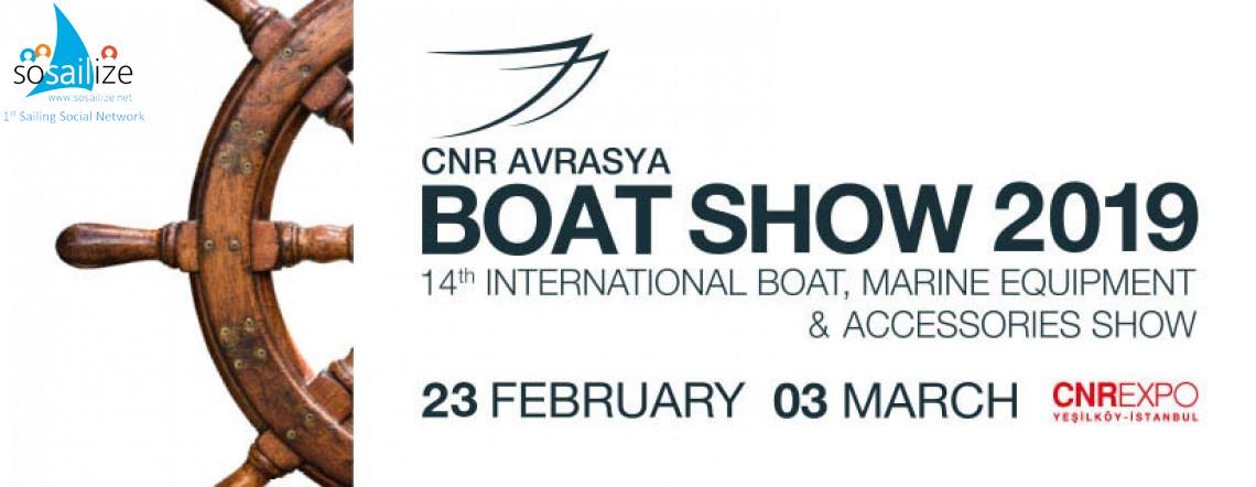 14th CNR Eurasia Boat Show 2019 Feb 23 - March 03, Istanbul, Turkey