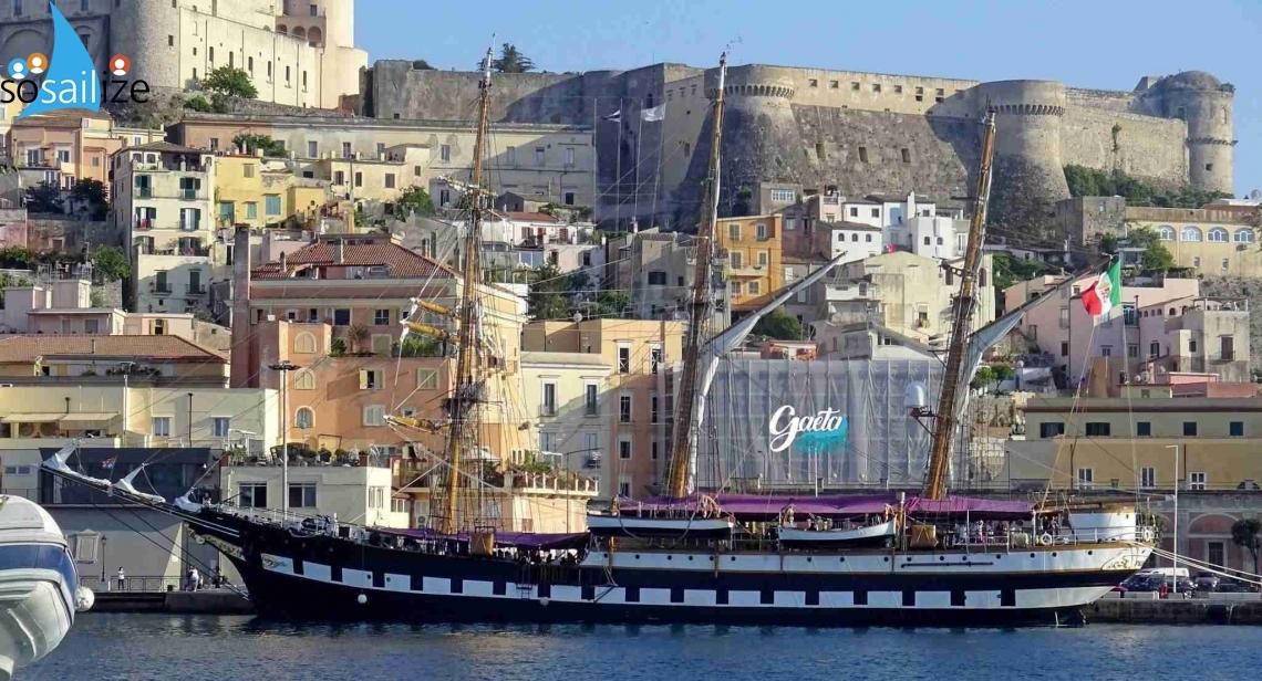 Palinuro training ship returns to Gaeta from 03 to 08 July, Gaeta, Italy