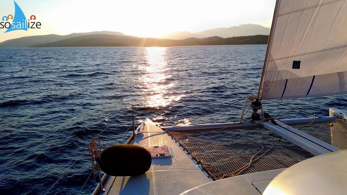 Sailing to Aeolian Islands, Italy