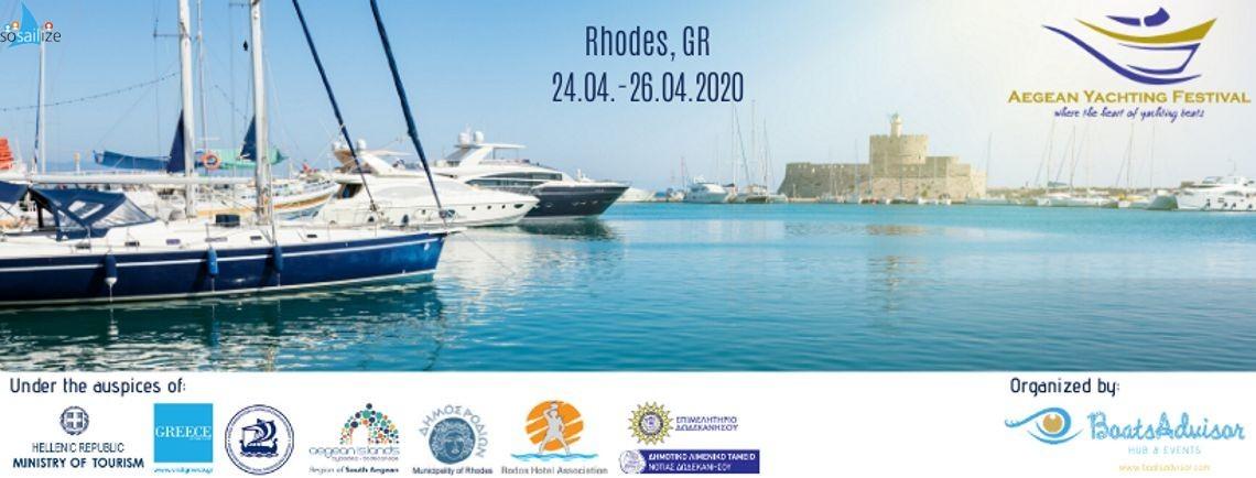 Aegean Yachting Festival 2020 Apr 24-26, Rhodes island, Greece