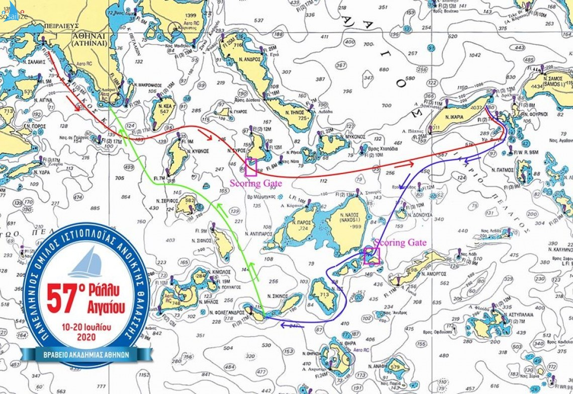 57th International Aegean Sailing Rally 2020 Jul 9-20, Faliron-Ikaria-Folegandros-Sounion, Greece