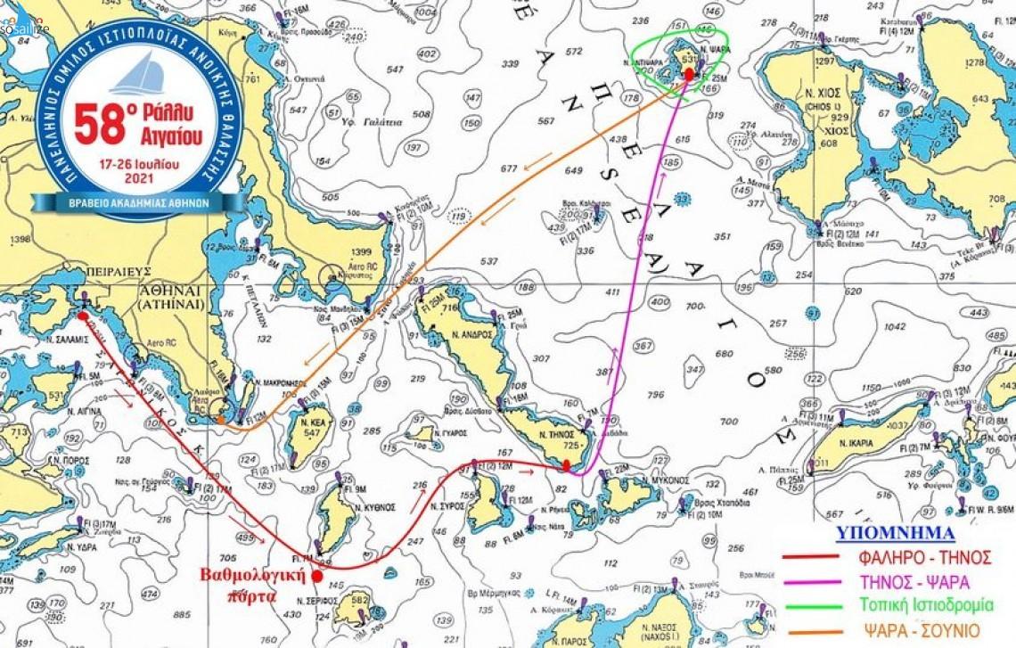58th Aegean Sailing Rally, 2021 Jul 17-26