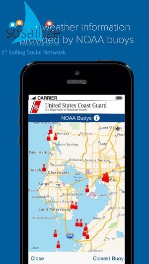 "The official U.S. Coast Guard app gives you 24/7 access to the most commonly requested information and resources for the recreational boating public. You can: <br /><br />- Identify the boating safety laws, requirements and resources available.<br />- Request a vessel safety check from the U.S. Coast Guard Auxiliary. <br />- Determine what safety equipment you are required to carry by law based on the size and type of vessel you are operating. <br />- File a float plan with up to three friends, loved ones or other responsible parties. <br />- Review the most commonly sought out navigational ""rules of the road.""<br />- Access weather information from the closest NOAA buoy to your current location.<br />- Report a navigational hazard.<br />- Report pollution.<br />- Report suspicious activity<br /><br />It is not a replacement for a VHF-FM marine radio, EPIRB, safe boating classes and common sense. <br /><br />https://play.google.com/store/apps/details?id=com.coastguard<br /><br />https://itunes.apple.com/app/id989994255"