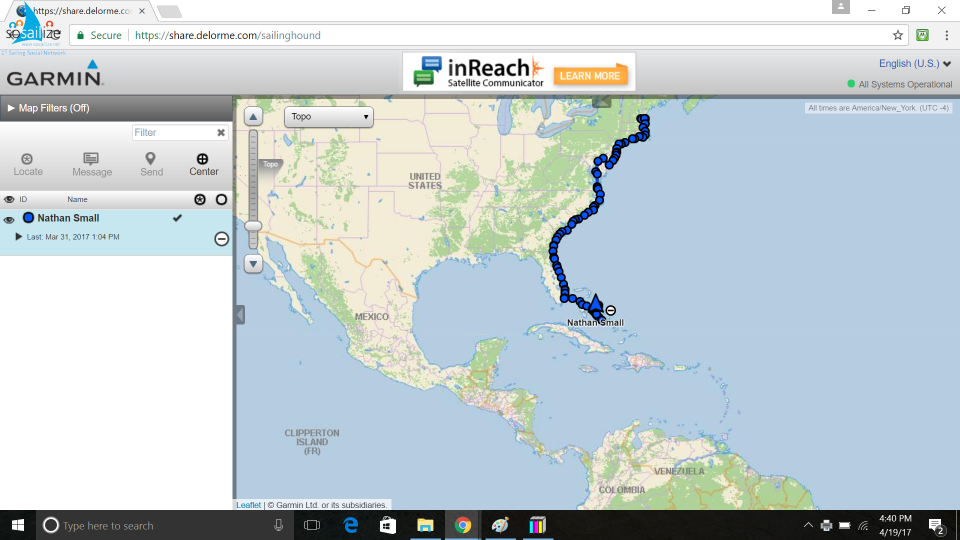 Trip progress so far