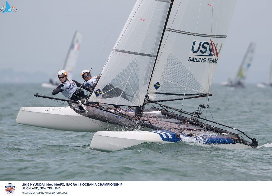 US Sailing Team Takes on 49er, 49erFX and Nacra 17 WorldsAUCKLAND, NZL (December 1, 2019) - The US Sailing Team athletes are ready to take on the 2019 Hyundai 49er, 49erFX and Nacra 17 World Championships. The event will be hosted from December 3-8 at the Royal Akarana Yacht Club, in Auckland, New Zealand.Racing begins on Tuesday, December 3. Sky Sport will be broadcasting the entirety of the 2019 Hyundai 49er, 49erFX and Nacra 17 World Championships to their New Zealand Audience. SidelineApp's coverage of the Worlds will be available to international viewers with a one-time subscription fee of just 14.95 euros.