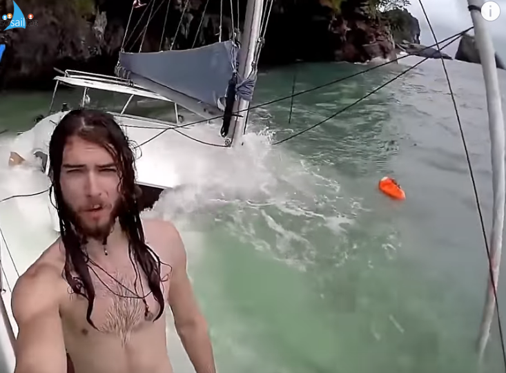 When your boat sinks and you are like .. fuck it .. time for  selfie :joy: