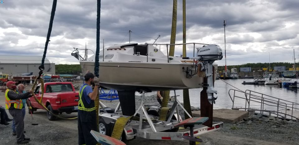 """A few photos of our sailboat """"SV Plan B""""on the completion of a multi year refit and first season on the water.S/V Plan B was launches in June and she was hauled out in Mid Sep so that we can complete a few improvement projects before the cold weather sets in.<br /><br />Unfortunately COVID clipped this Canadian Snowbird wings; so towing SV Plan B to Florida nd sail the blue water of the keys will not happen this winter :("""