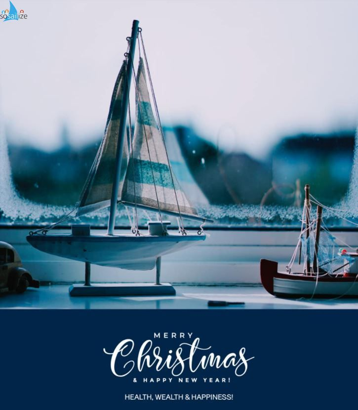 Merry Christmas and a happy New Year soSAILizers! <br /><br />#merrychristmas #HappyNewYear  #sailing #yacht #sosailize