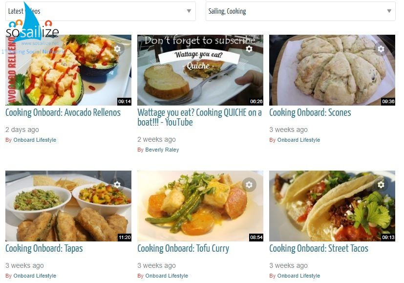 New Video Category Added: Sailing & Cooking ! https://www.sosailize.net/videos/display?catid=18 Thanks to all soSAILizers Chefs!#HelpDesk