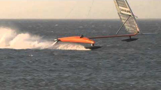 "VESTAS Sailrocket 2. ""The magic mile"" world record*..."