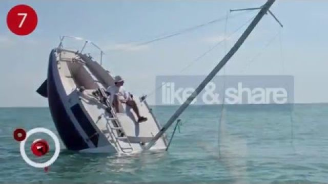 Is this Sailboat Sinking for real ? ( We couldn't believe it )