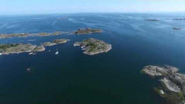 Luftaufnahmen der Stockholmer Schären