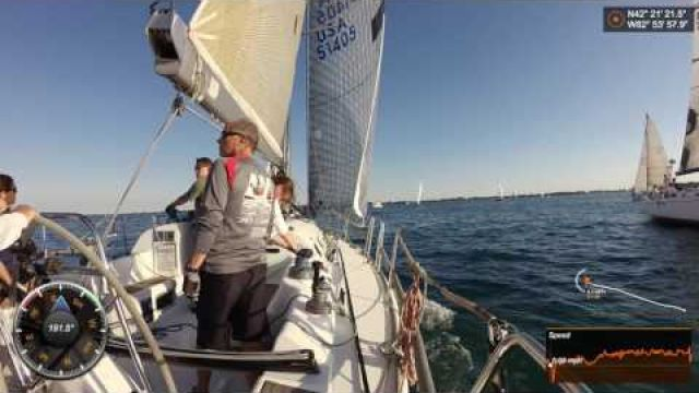 Sailing the Canadian Cup Race - beautiful sunsets, fast boats