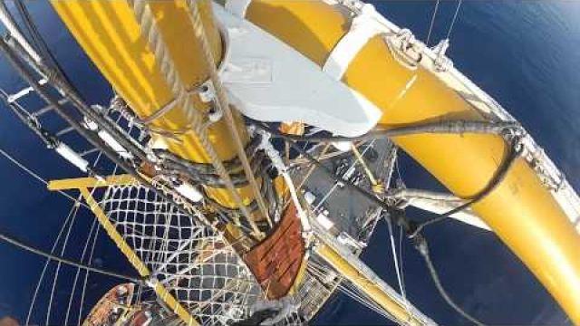 Marina Militare - Nave Palinuro, come salire sugli alberi del veliero