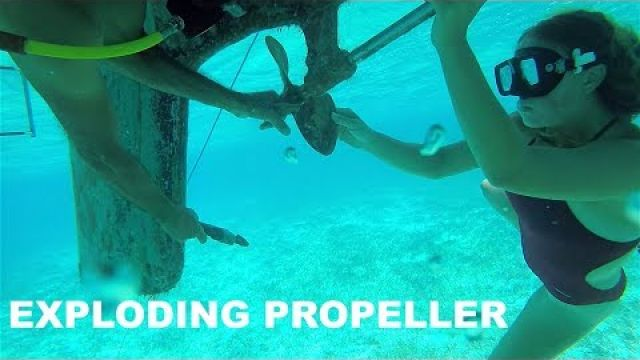 Crossing Caicos Banks With Half a Prop (Ep. 43 ~ Bums on a Boat)