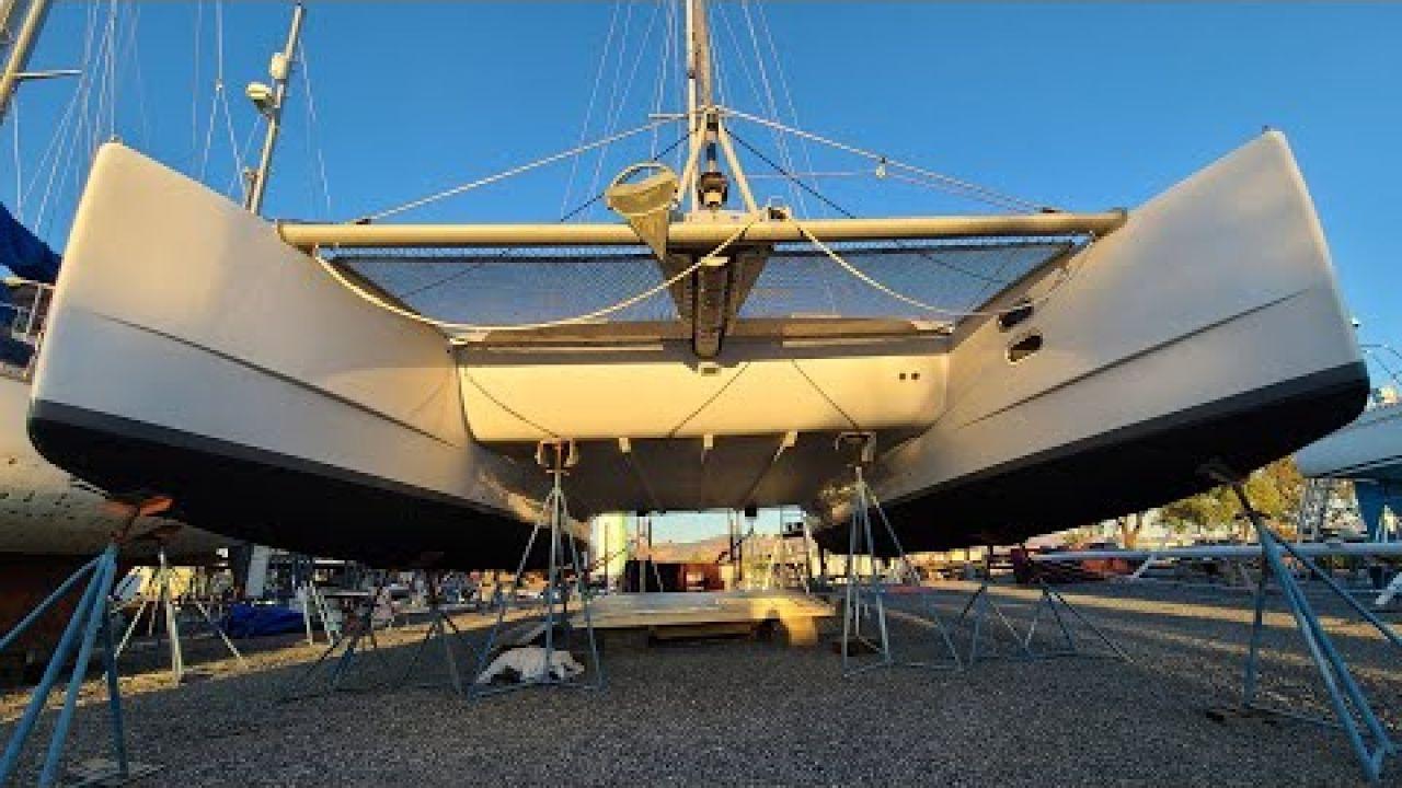 Catamaran HARDTOP Build Part 4 - Onboard Lifestyle ep.138