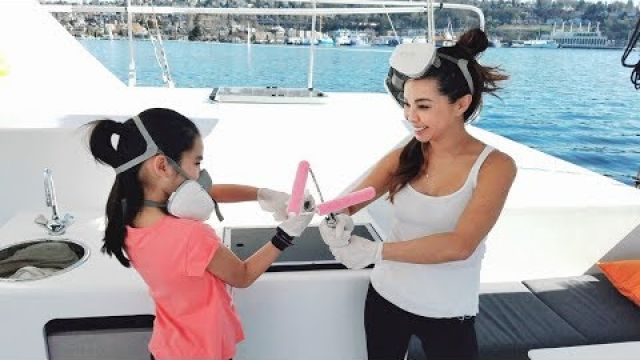 Onboard Lifestyle ep.6 Painting the decks on our Catamaran...finally!