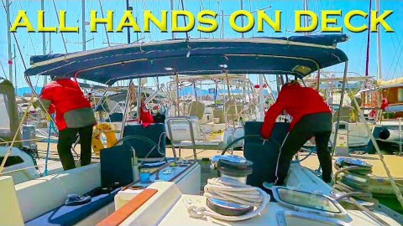 Having a smashing time (literally) at Marmaris marina - Sailing A B Sea (Ep.165)