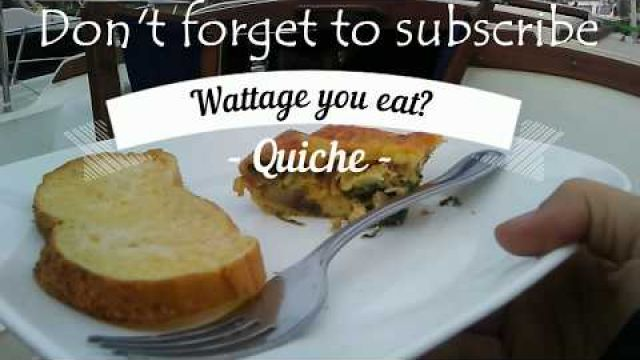 Wattage you eat? Cooking QUICHE on a boat!!! - YouTube