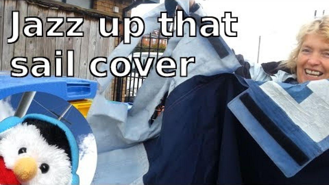 Sail cover repair - canvas work - Ep. 72