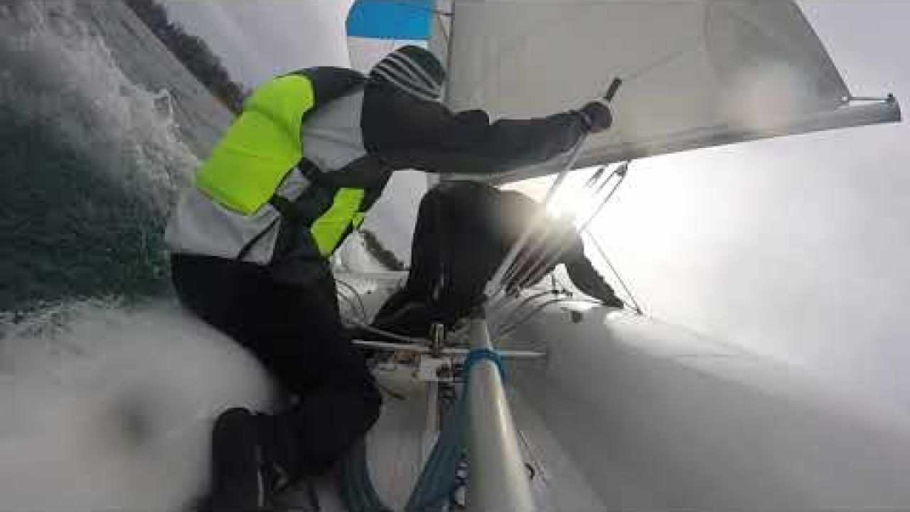 WMU Sailing: Heavy Wind 420 Sailing