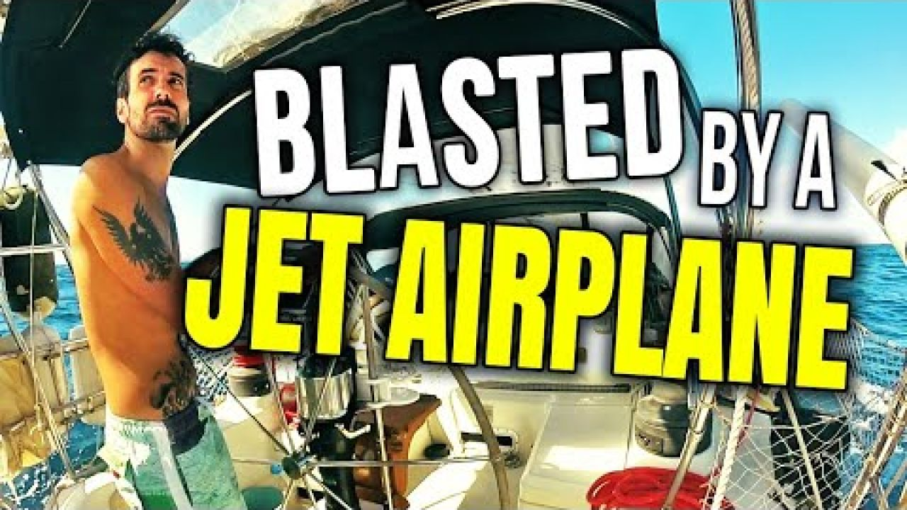 Sailing to St Martin and BLASTED by a JET AIRPLANE | Sailing Balachandra E098