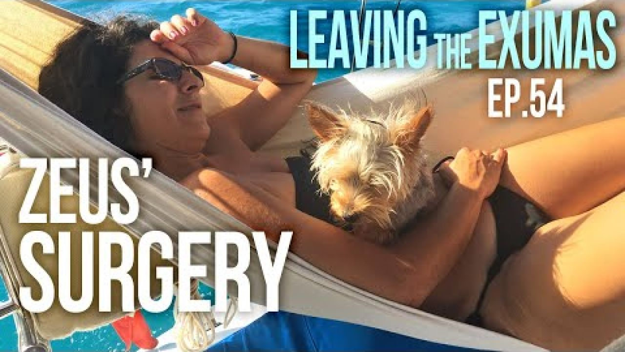 Zeus has Surgery and Sailing to Salt Pond Thompsons Bay Exumas Bahamas | Sailing Balachandra E054