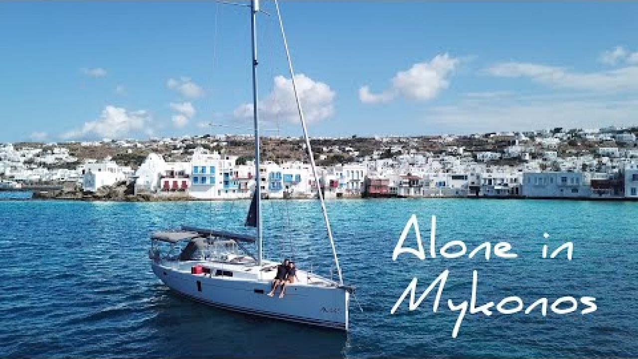 HOW GOOD IS THIS! Sailing to Mykonos and Delos in the Greek Islands | Alone in Mykonos | Sail Greece