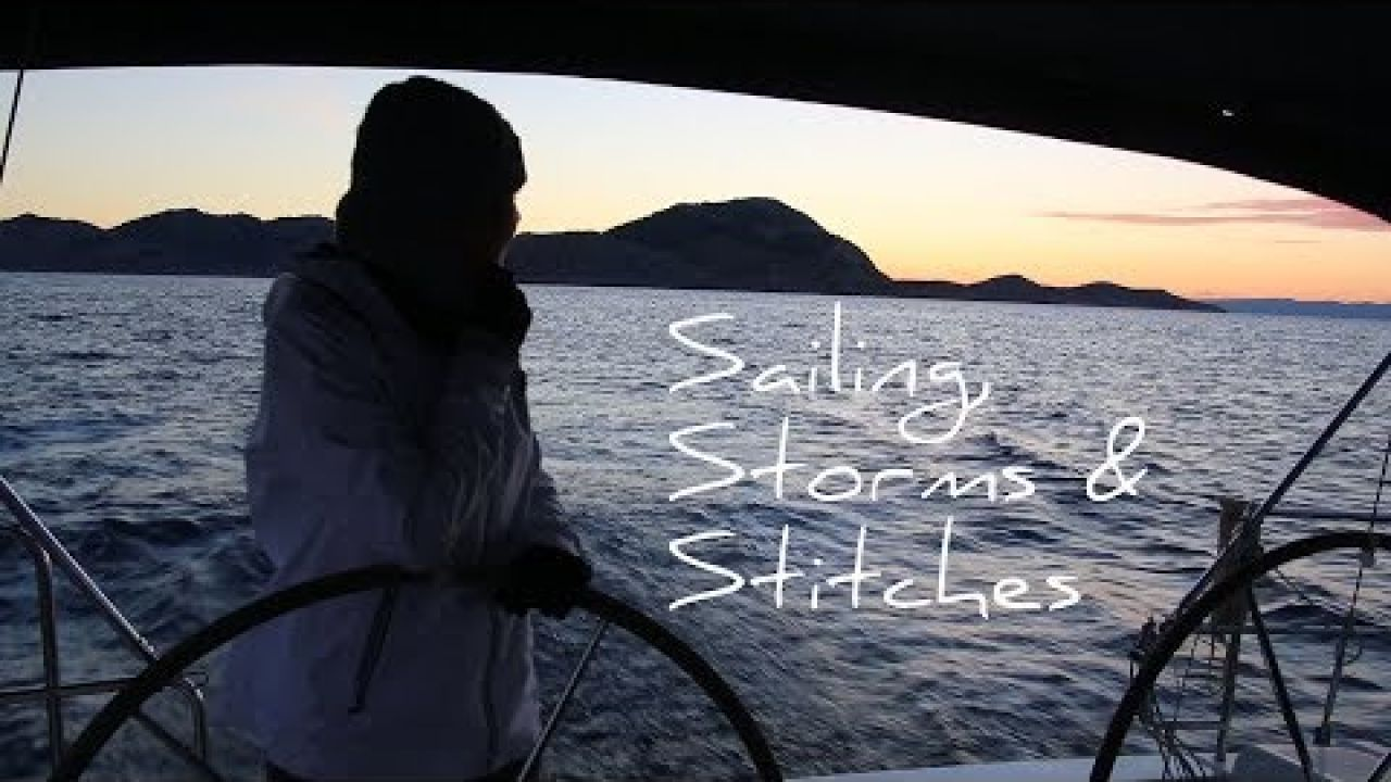 8. Hail and more storms in Greece | Sailing from Symi to Kos | Sailing injury Tracey needs Stitches