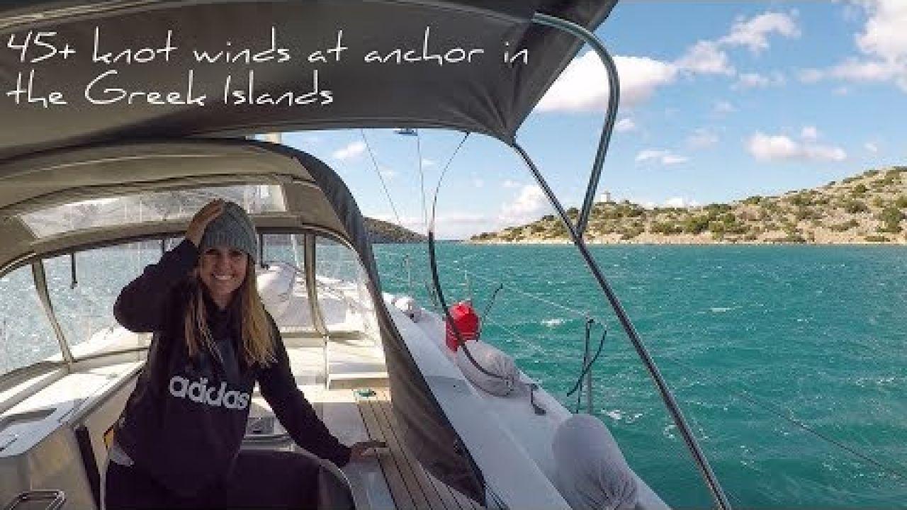7. Sailing and exploring Symi | 45+ knot winds at anchor | Sailing the Greek Islands