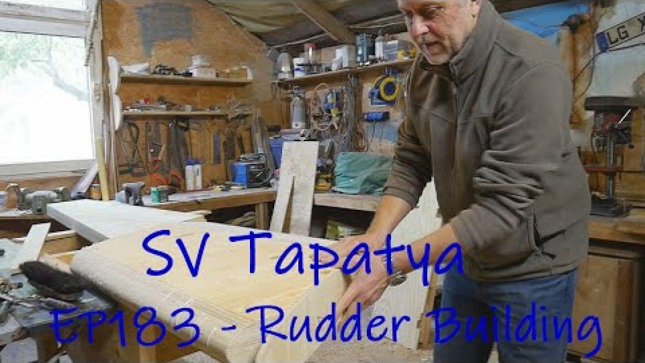 Rudder building - Building a cruising sailboat - SV Tapatya EP183