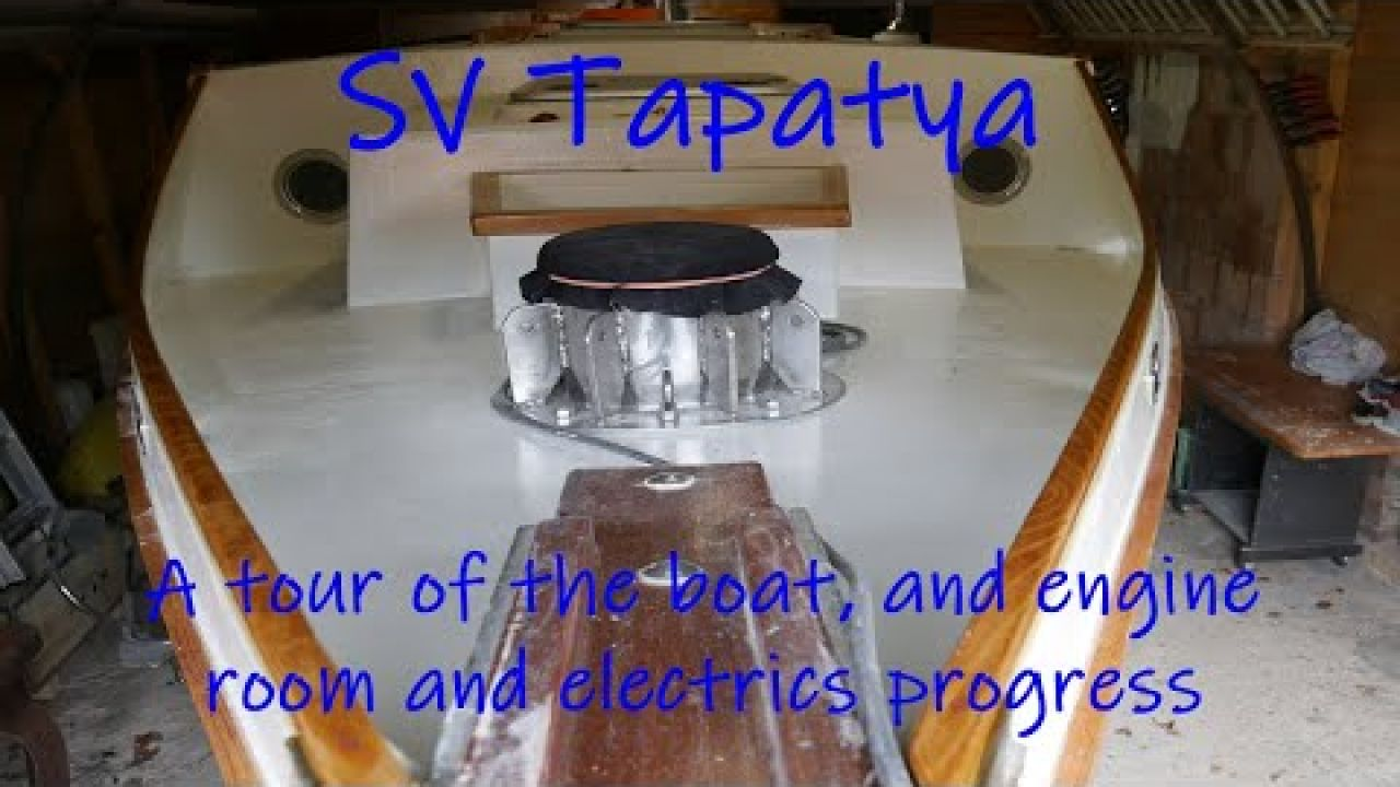 A tour of the boat, and engine room and electrics progress - SV Tapatya EP178