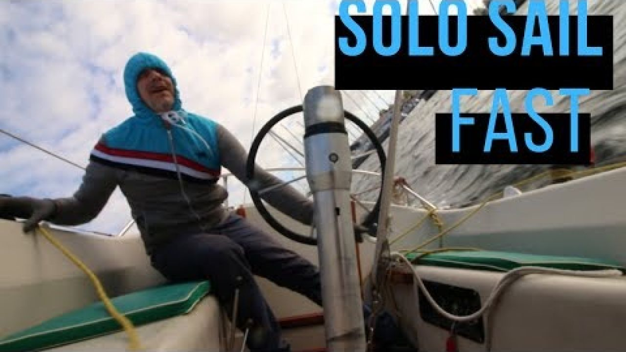 ⛵ Fourth solo Sailing day, high heeling. ep4.