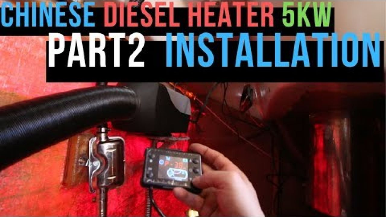 Installation diesel heater 5kw in a sailboat part II from AliExpress - ep.16