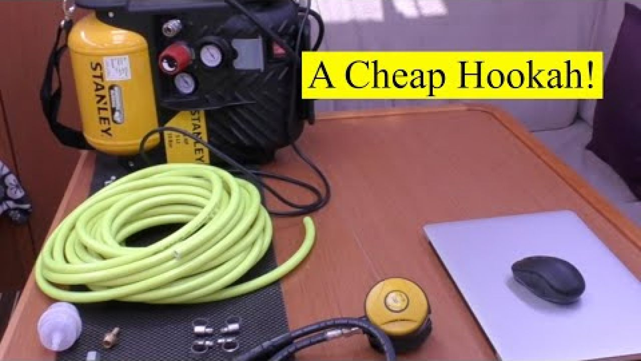 Cheap Hookah! We build a Surface Air Breathing System.