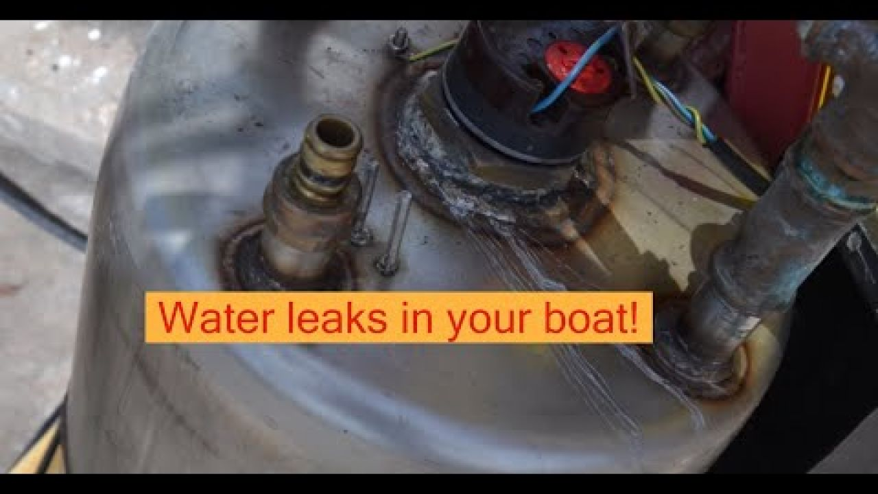 Water leaks in your boat! Where is the leak!