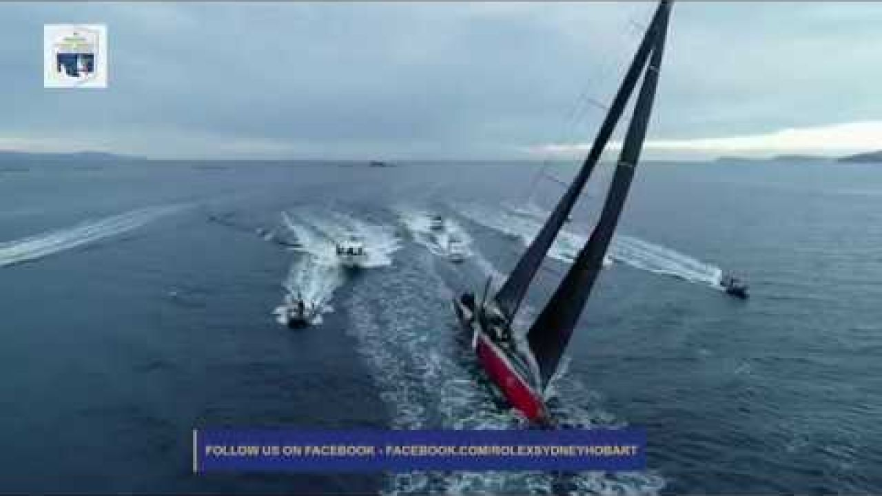 The 2019 Rolex Sydney Hobart line-honours finish